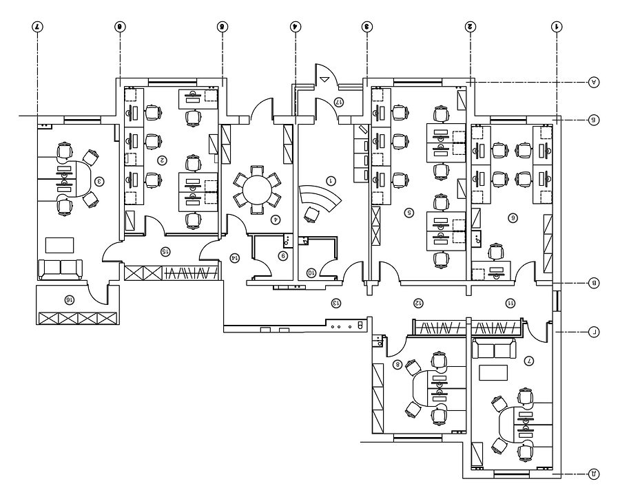 office floor plan for lease documentation